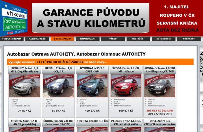 Autobazar Autohity Olomouc