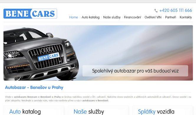 Bene Cars autobazar Benešov - recenze