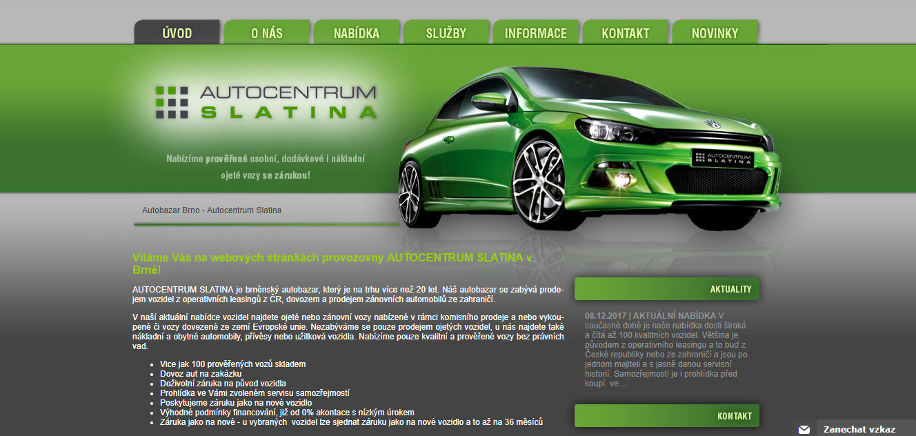 Autobazar Autocentrum Slatina Brno recenze hodnocení zkušenosti