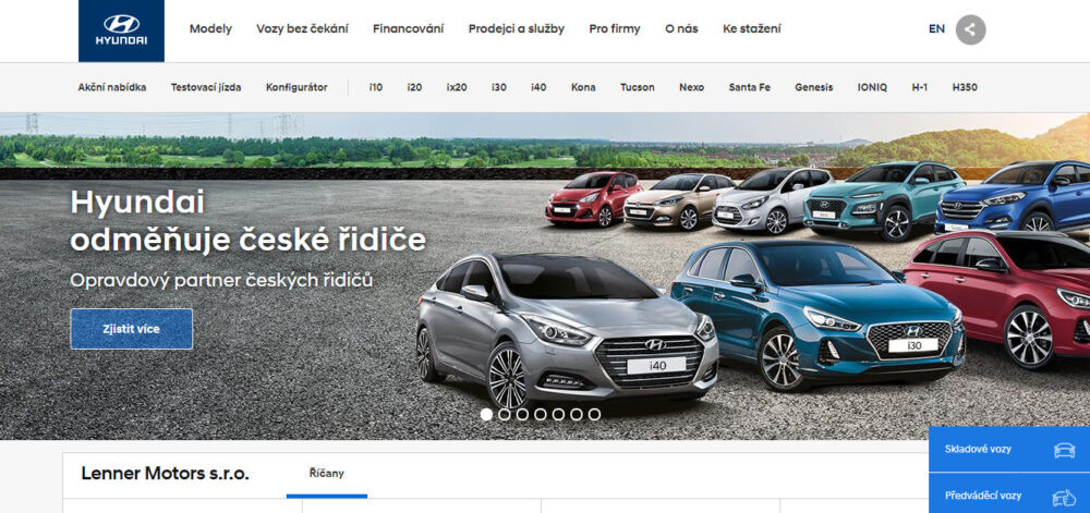 Ojeté vozy Lenner Motors autobazar recenze