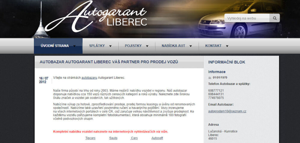 Autogarant Liberec - recenze autobazaru